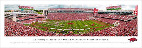 Arkansas Razorback Football - Unframed 40 x 13.5 Poster by Blakeway Panoramas