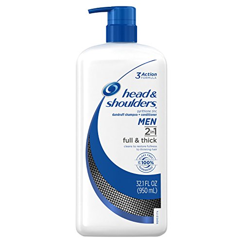 Price comparison product image Head and Shoulders Full and Thick 2-in-1 Anti-Dandruff Shampoo + Conditioner 32.1 Fl Oz for Fighting Hair Thinning or Hair Loss Due to Damage and Breakage