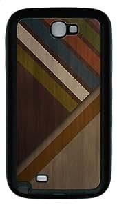 Samsung Galaxy Note II N7100 Case,Abstract wood colors TPU Custom Samsung Galaxy Note II N7100 Case Cover Black