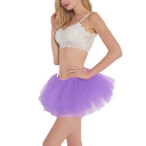 BUENOS NINOS Women Tutu Boutique Ballerina Skirt (Lavender)