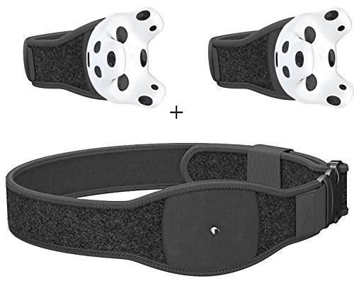 Skywin VR Tracker Belt, Hand Strap, and Protective Silicon Skins for HTC Vive System Tracker Pucks – Adjustable Belt…