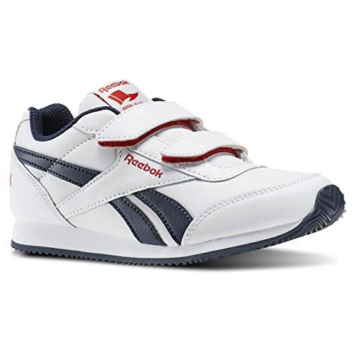 Reebok Royal Cljog 2 2v, Zapatillas de Running Para Niños Blanco / Azul / Rojo (White/Collegiate Navy/Red Rush)
