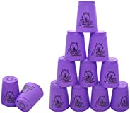 12 Pack Sports Stacking Cups, Quick Stack Cups Set Speed Training Game for Travel Party Challenge Competition,