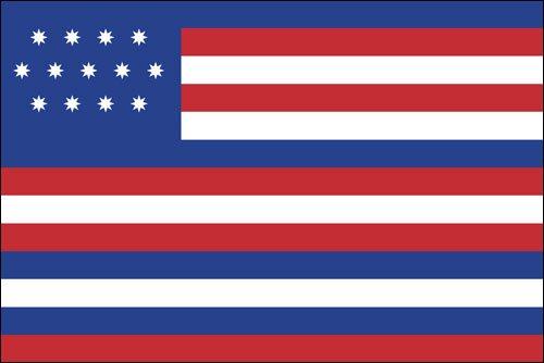American Vinyl Serapis Flag Sticker (Historic us Ship) ()