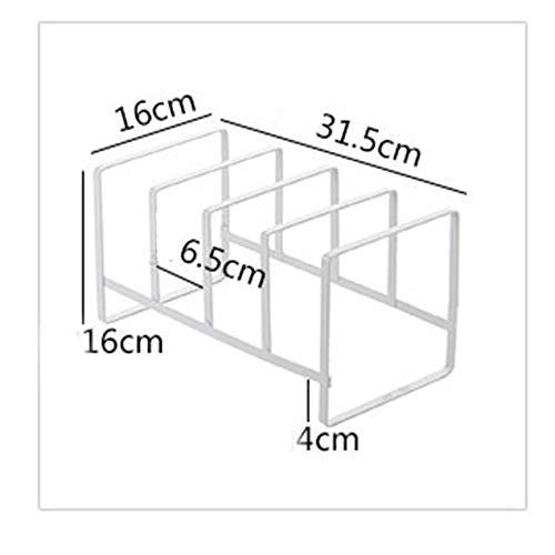 VCB Estante de Cocina de Metal Estante de Plato Vertical Soporte de Almacenamiento de Drenaje de Rejilla de Secado Blanco