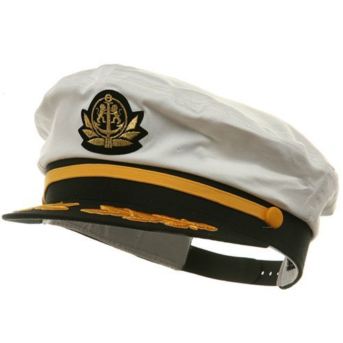 Broner Adjustable Captain Hats-White -