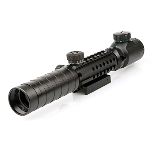 (Higoo® 3-9x32EG Riflescope Red&green Illuminated Rangefinder Reticle Shotgun Air Hunting Rifle Scope with Tri-Picatinny Rail)