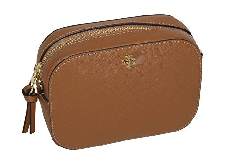 Tory Burch Emerson Round Cross-body Saffiano Leather Bag Women's (Tiger's (Tigers Eye Handbag)