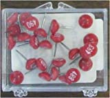 Numbered Map Tacks - Red Pins with White Numbers (20 Boxes of 25: Numbers 1-500)