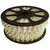 Cbconcept 120VLR-150FT-WW Warm White 150-Feet 120-volt 2-Wire 1/2-Inch LED Rope Light, Christmas Lighting, Indoor/Outdoor Rope Lighting