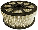 CBconcept 120VLR-150FT-WW Blanco cálido 150 pies 120-voltios 2-hilos 1/2-inch LED cuerda luz, iluminación de Navidad, iluminación de cuerda interior / al aire libre