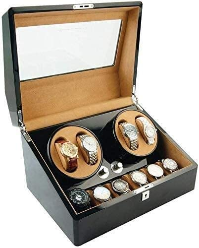 ウォッチワインダーウォッチワインダーボックス4 + 6機械式時計ボックスワインディングボックス自動ウォッチボックスウォッチワインダー