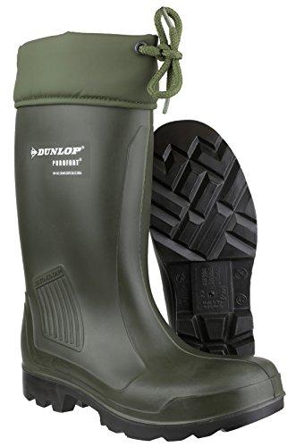 Dunlop Modell Thermoflex grün , Gummistiefel mit Trittschutz und Winterfütterung EN 345-S5, 37