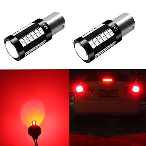 Alla Lighting 2800lm 7528 1157 LED Red Turn Signal Brake Stop Lights Bulbs Xtreme Super Bright BAY15D 1157 LED Bulb High Power 5730 33-SMD LED 1157 Bulb 7528 2057 2357 LED Signal Blinker Stop Lights ()