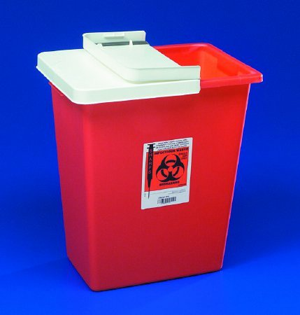 SharpSafety Multi-purpose Sharps Container, 1-Piece, 8 Gallon, Red, Sharp Safety