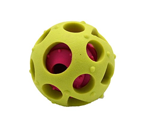 Interactive Dog Toys,Dog toys ball and treat dispensing for small/middles size(under 30lbs) dogs/cats/ and pigs Funny Dog Puzzle and Dog Toys for Boredom and Thinking (yellow)