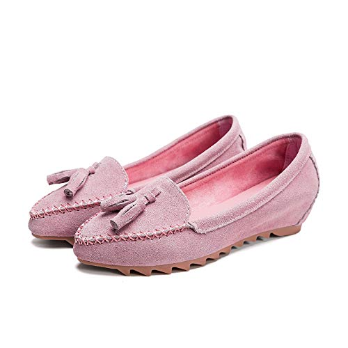 shoes work casual shoes women autumn Pointed leather flat pregnant comfortable shoes and FLYRCX spring fashion C qUTBpwn