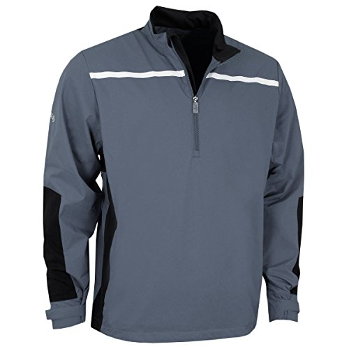 Callaway 2017 Mens Golf 1/4 Zip Chest Stripe Wind Protection Jacket Quiet Shade XL