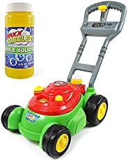 Sunny Days Entertainment Bubble-N-Go Deluxe Toy Lawn Mower with 4 oz Bubble Solution - Maxx Bubbles