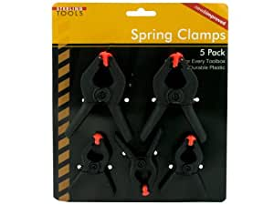 bulk buys MT476 Spring Clamps, Black/Orange