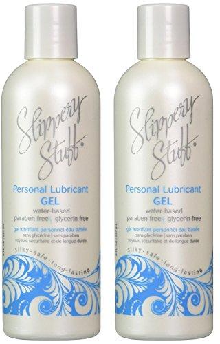 Slippery Stuff Water-Based Longlasting Personal Lubricant Gel, 8 oz (2 Pack)