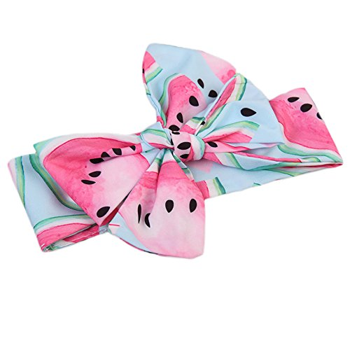 Toddler Baby Girls Watermelon Hair Accessories Bow Heaband (A) ()
