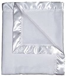 Raindrops Fleece Receiving Blanket, White