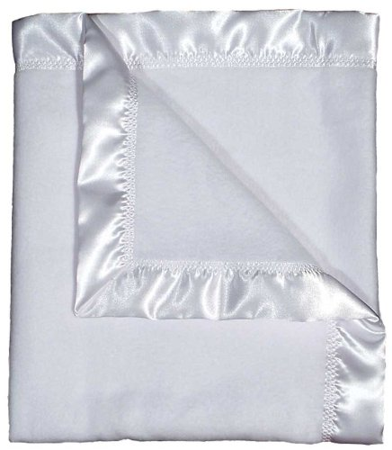 Raindrops Fleece Receiving Blanket, White (Blanket Receiving Touch Satin)