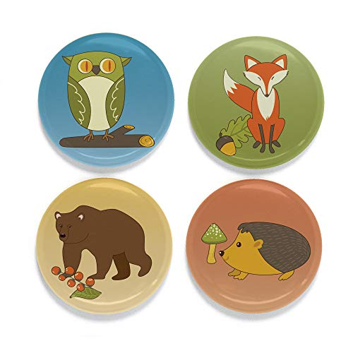 (Buttonsmith Woodland Animals Tinker Top Set - to use with Tinker Reel Badge Reel - Made in The USA)