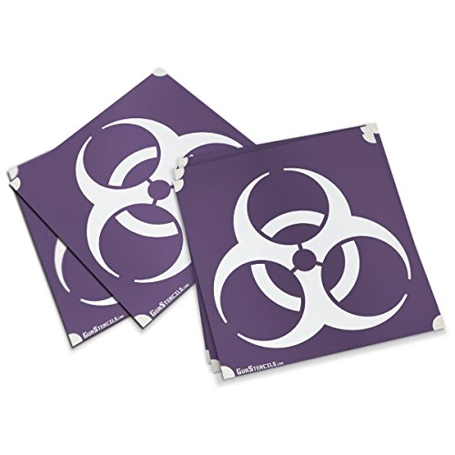 Biohazard Stencils for Guns, Steel Targets, Magazines and Accessories - 5 Pack