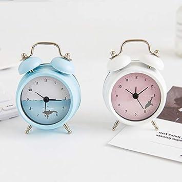 dongzhifeng Despertador Mesita de Noche sin Despertador, Reloj Despertador Cama Fuente de alimentación, Decoración