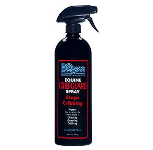 EQyss Crib Guard Equine Spray 32oz - Guaranteed to Stop Your Horse from Chewing and Cribbing Cribbing Spray