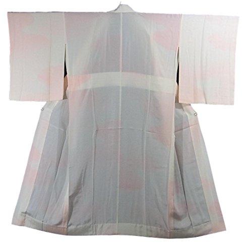 寝るジェット承認するリサイクル 着物 襦袢 袖無双 霞模様 ぼかし染め 正絹 裄66.5cm 身丈136cm