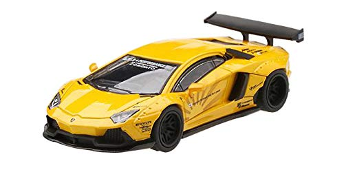 MINI GT 164 LB ★ WORKS 람보르기니 アヴェンタド?ル 볼 카노 옐로우 왼쪽 핸들 완제품 / MINI GT 164 LB★WORKS Lamborghini Aventador Volcano Yellow Left Handle Completed