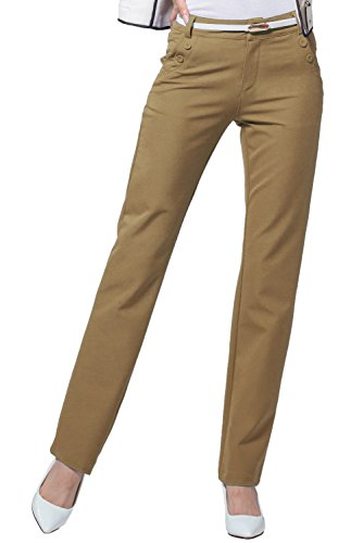 Women's Slim Straight Leg Stretch Casual Pants