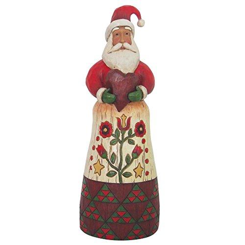 Jim Shore 4058766 Folklore Santa Holding Heart Figurine