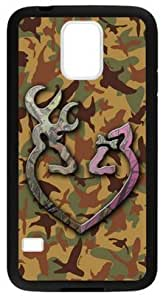 LILICHEN Browning Cutter Logo Camo Case Cover for Samsung Galaxy S5(Laser Technology) -- Design By LILICHEN Kimberly Kurzendoerfer
