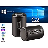 G2 Windows 10 Mini PC - Windows 10, CR Z3735F Quad Core CPU, Bluetooth 4.0, Wi-Fi, 2MP Camera (Black)