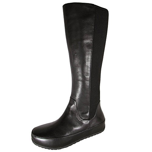 FitFlop Women's Due Tall Stretch Boot,Black,5 M - Boot Stretch Tall