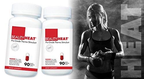 BeautyFit BeautyHeat and FREE BeautyFit Pill Box, Women's Pro-Grade Thermo-Stimulant (90 Capsules)
