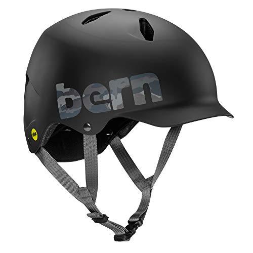 Bern Black Summer Helmet - BERN - Summer Bandito EPS Helmet, MIPS Matte Black Camo Logo, S/M