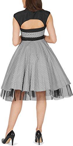 großer Polka Kleid Dots mit BlackButterfly Schleife Silber Athena' Xf8qSO