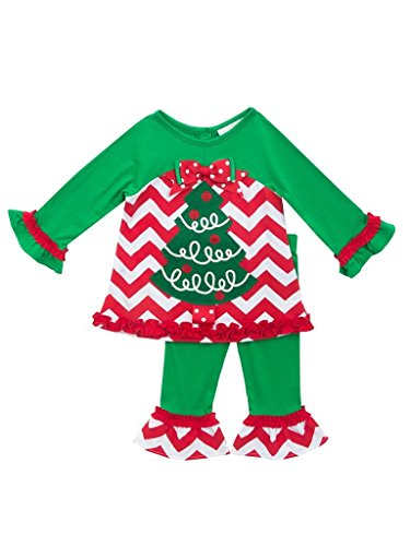 Rare Editions Baby Girls Tree Applique Chevron Legging Se...