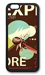 Apple Iphone 6 Case,WENJORS Adorable Vintage Space Poster Series I Explore Space Its Fun Soft Case Protective Shell Cell Phone Cover For Apple Iphone 6 (4.7 Inch) - TPU Black