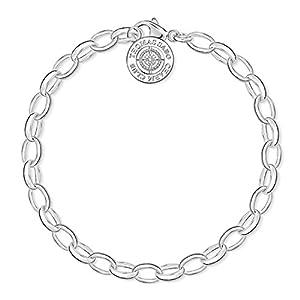 Thomas Sabo Charm Club Women's Bracelet 925Sterling Silver Diamond (0.011Ct) White Brilliant Cut
