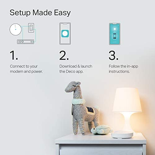 TP-Link Deco Mesh WiFi System(Deco M5) –Up to five,500 sq. feet. Whole Home Coverage and 100+ Devices,WiFi Router/Extender Replacement, Parental Controls/Anitivirus, Seamless Roaming, 3-pack