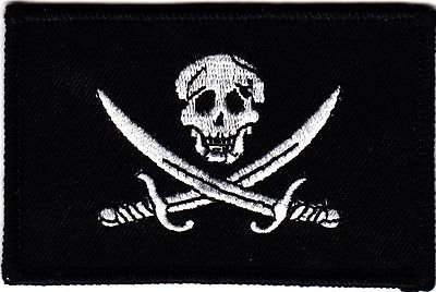 Amazon.com: pirate flag jolly roger skull & crossed swords riron on