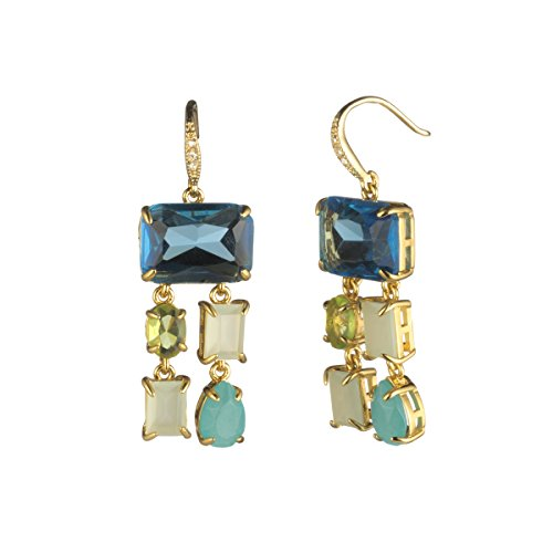 (Carolee Malibu Waves Women's Malibu Waves-Fw-Stone Chandelier Drop Earrings, Blue/Green, One Size)