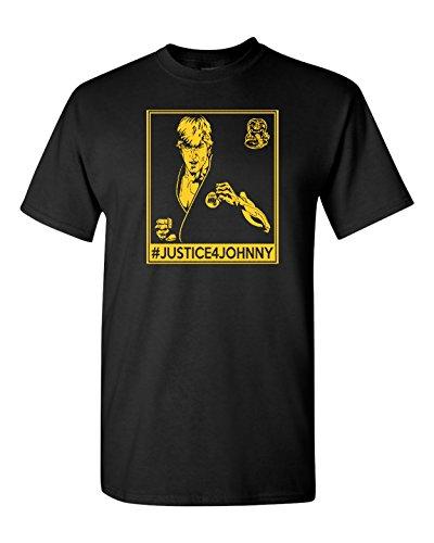 (All Things Apparel Justice For Johnny Cobra Kai Karate Men's T-Shirt - Med Black)