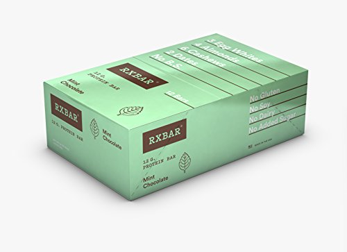 Large Product Image of RXBAR Whole Food Protein Bar, Mint Chocolate, 1.83oz Bars, 12 Count